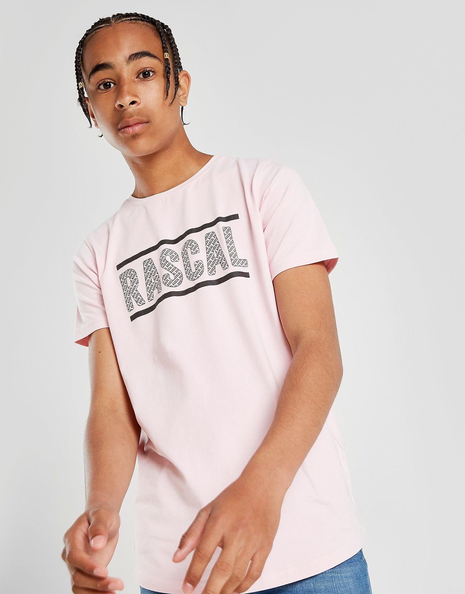 Rascal All Over Print Logo T-Paita Juniorit - Kids, Vaaleanpunainen