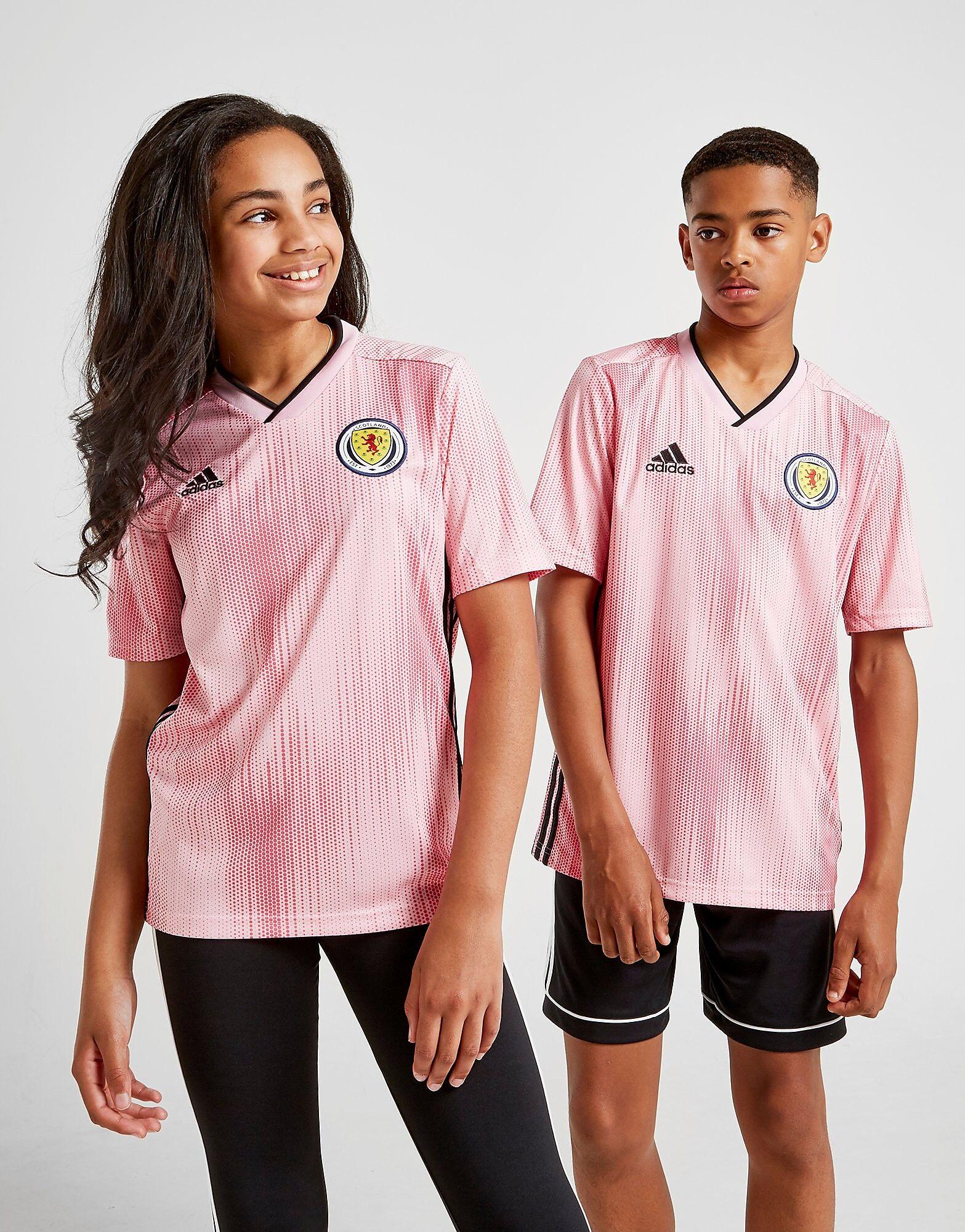 Image of Adidas Scotland 2019 Vieraspaita Juniorit - Kids, Vaaleanpunainen