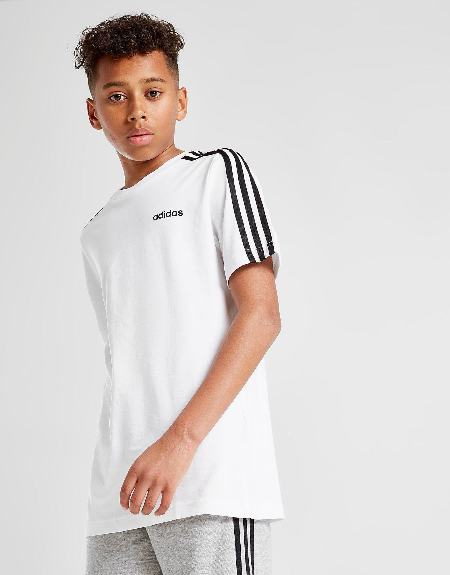 Image of Adidas 3-Stripes T-Paita Juniorit - Kids, Valkoinen