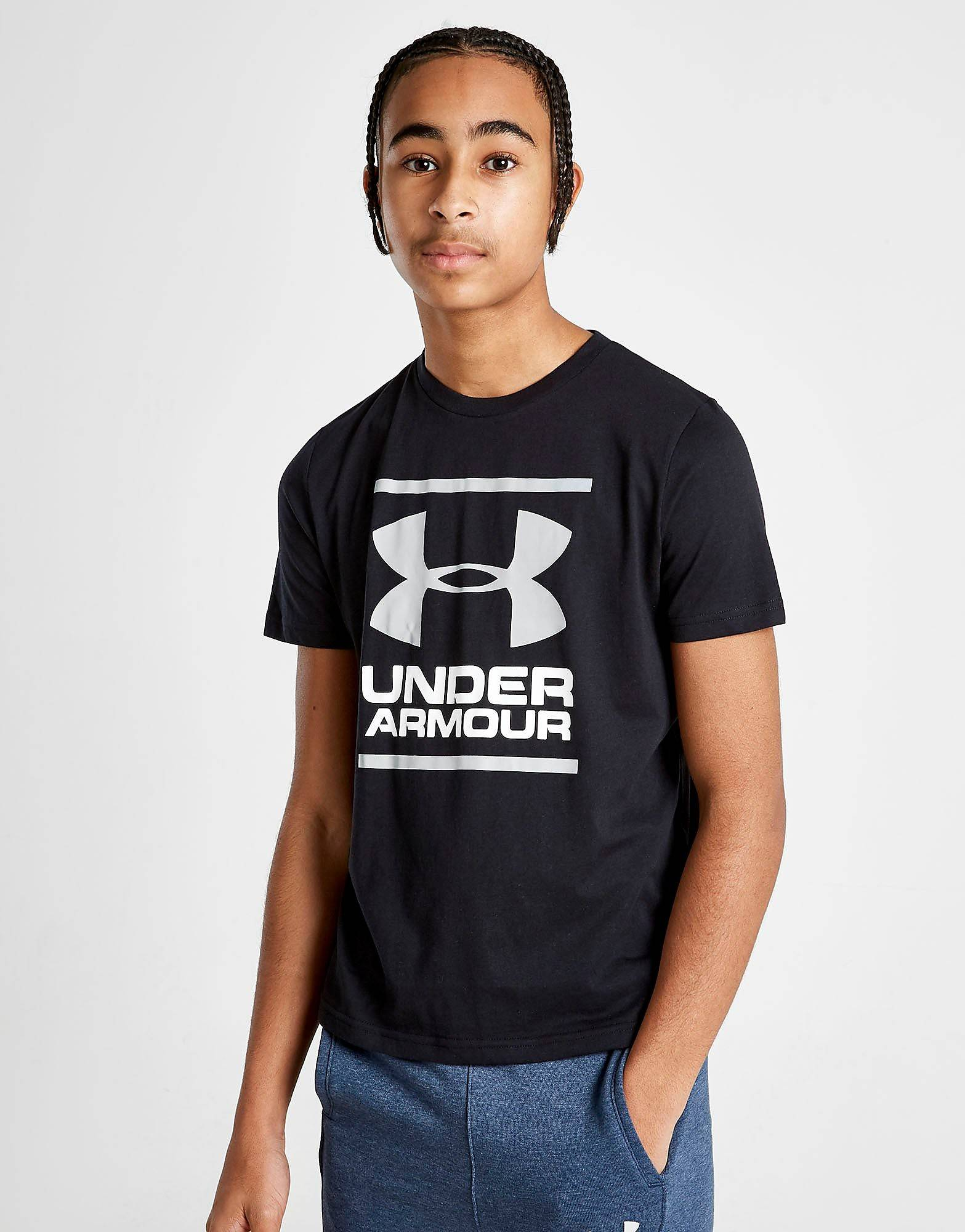 Under Armour Brand Stack T-Paita Juniorit - Only at JD - Kids, Musta