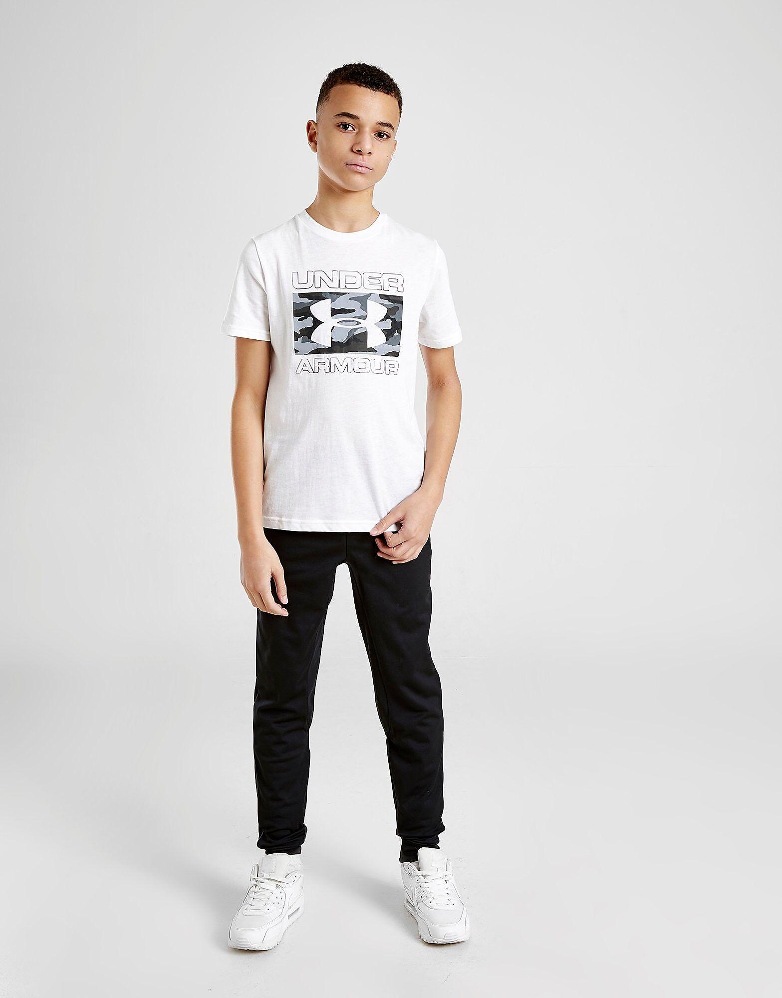 Under Armour Brand Stack T-Paita Juniorit - Kids, Valkoinen  - Valkoinen - Size: 14+Y