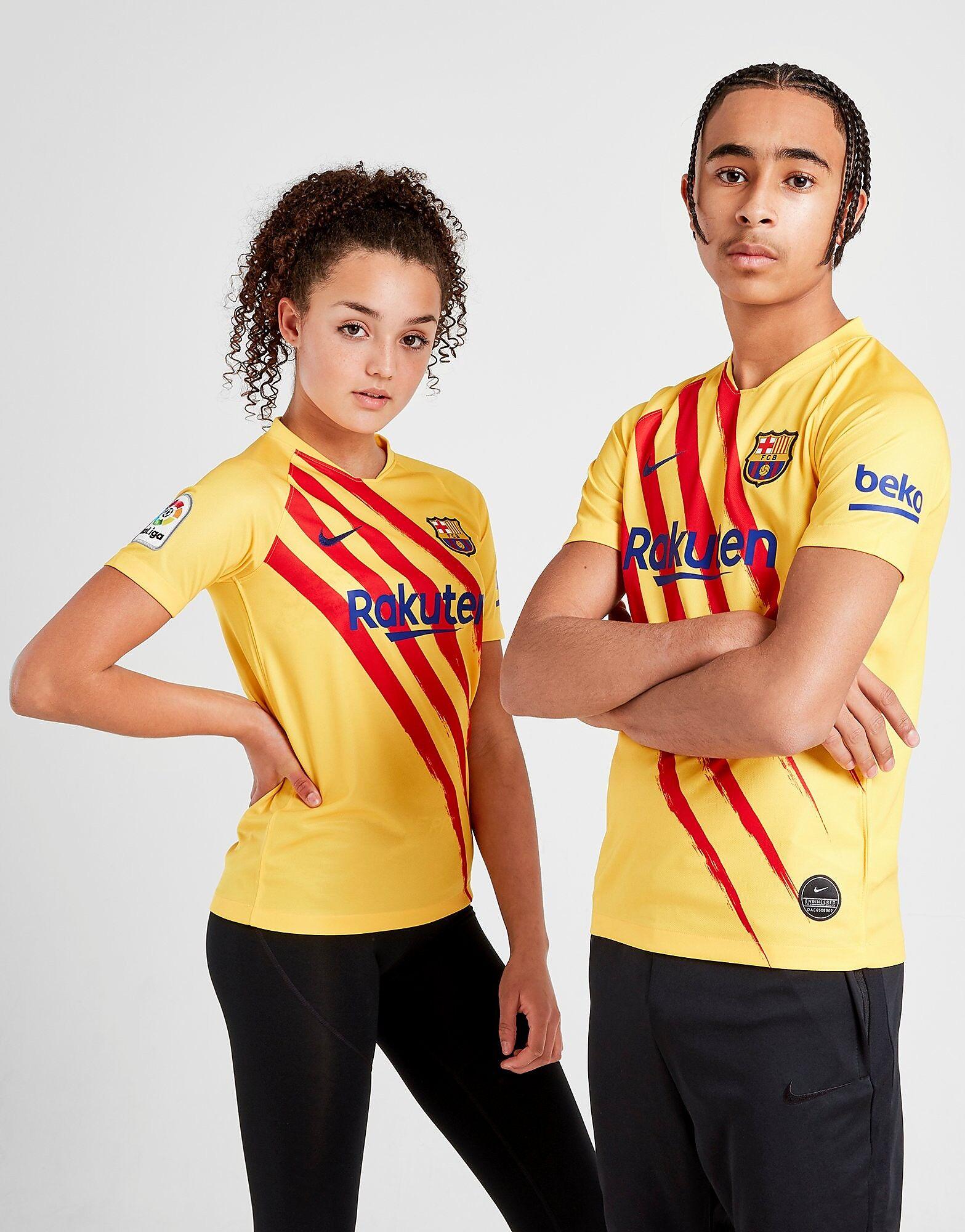 Image of Nike FC Barcelona 2019/20 Stadium T-paita Juniorit - Kids, Keltainen