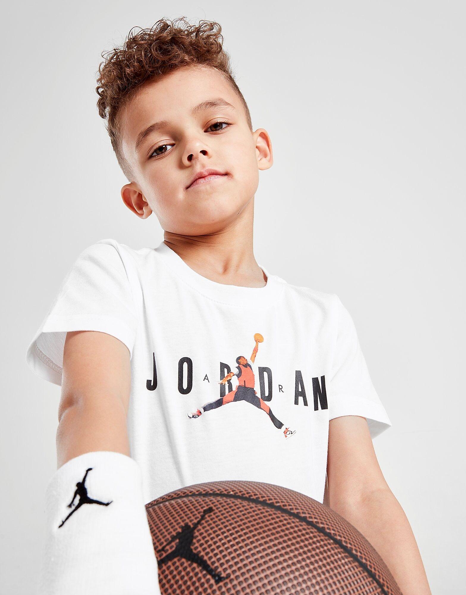 Jordan Brand Three T-paita Lapset - Kids, Valkoinen