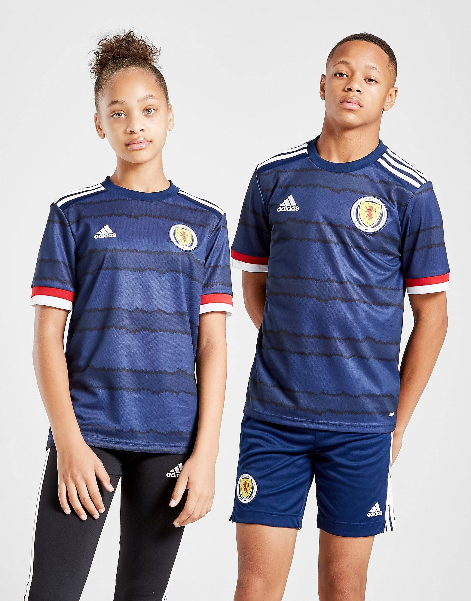 Image of Adidas Scotland 2020 Kotipaita Juniorit - Kids, Laivastonsininen