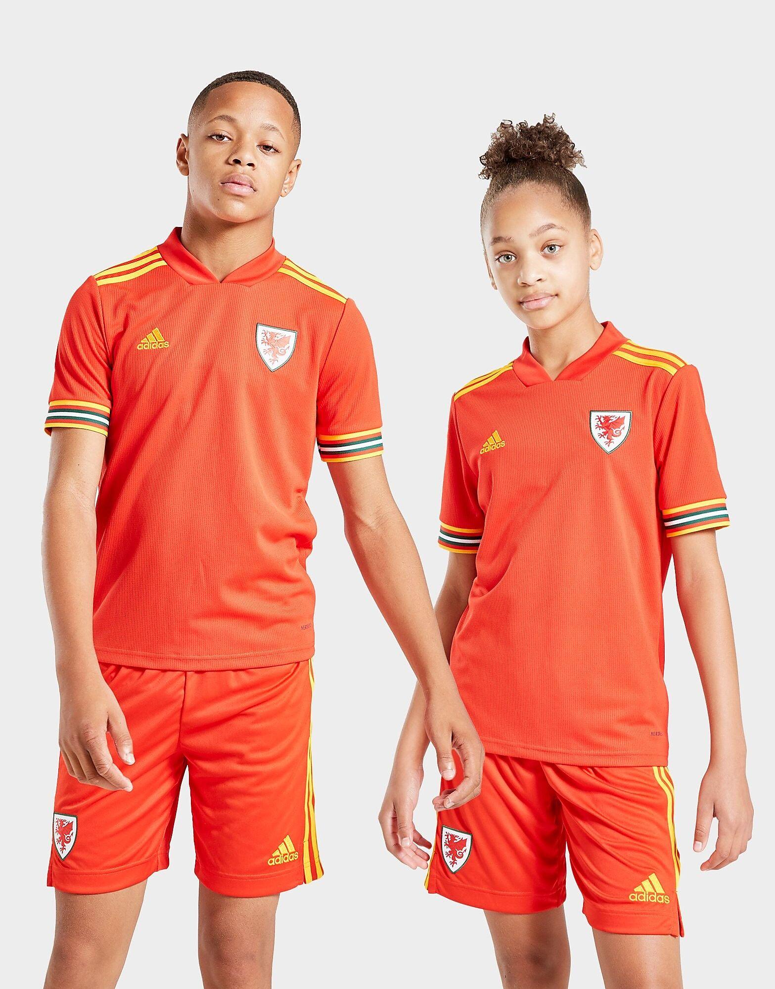 Image of Adidas Wales 2020 Kotipaita Juniorit - Kids, Punainen