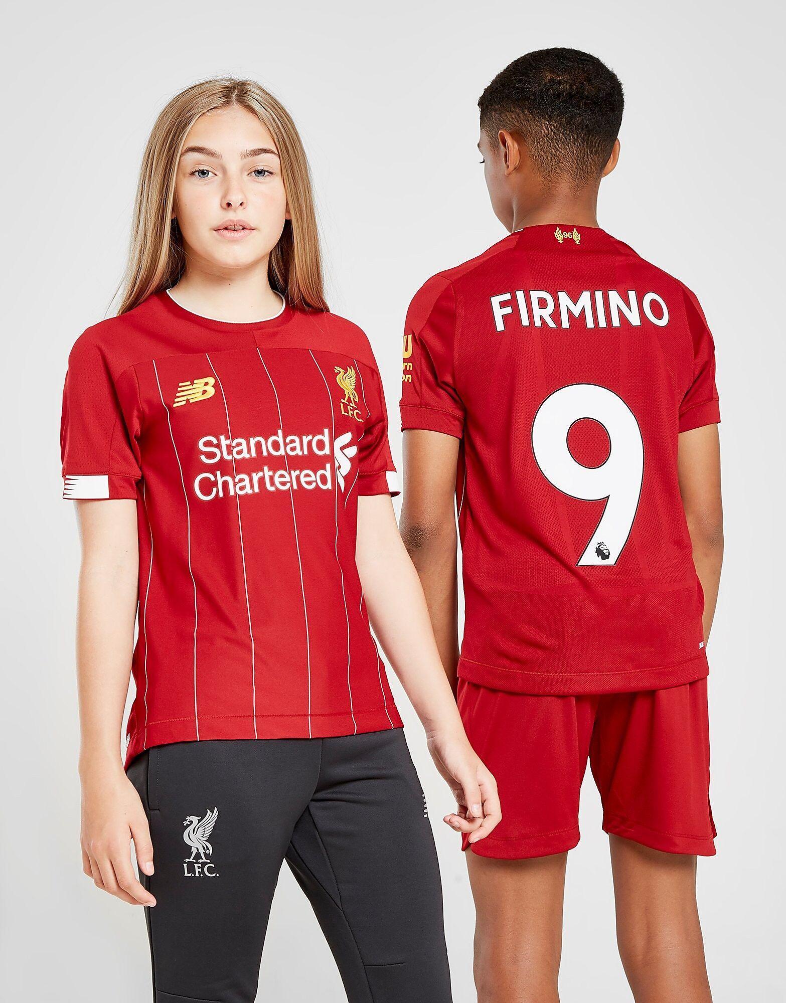Image of New Balance Liverpool FC 2019/20 Firmino #9 Home Shirt Junior - Kids, Punainen