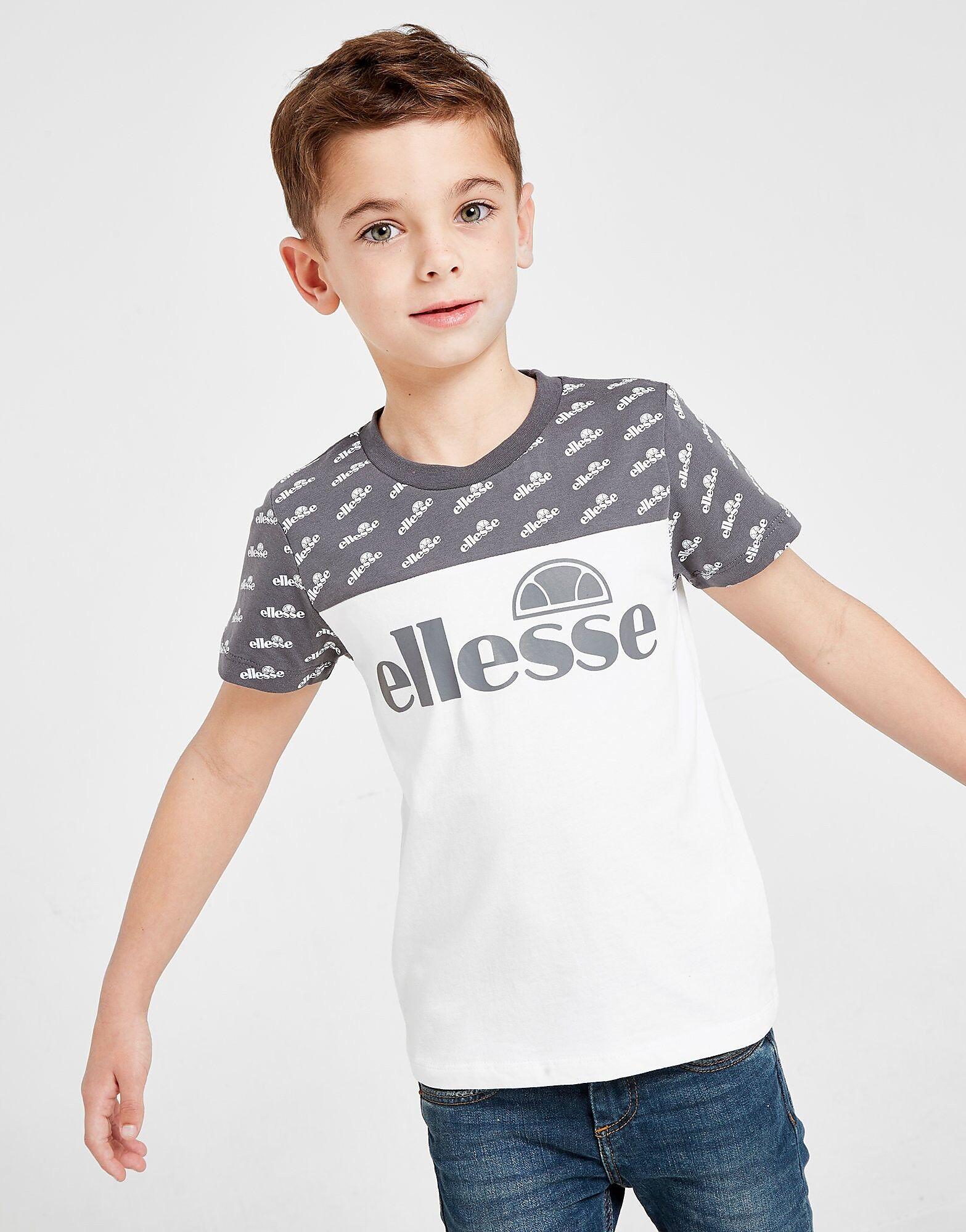 Ellesse Supio All Over Print T-Paita Lapset - Kids, Valkoinen