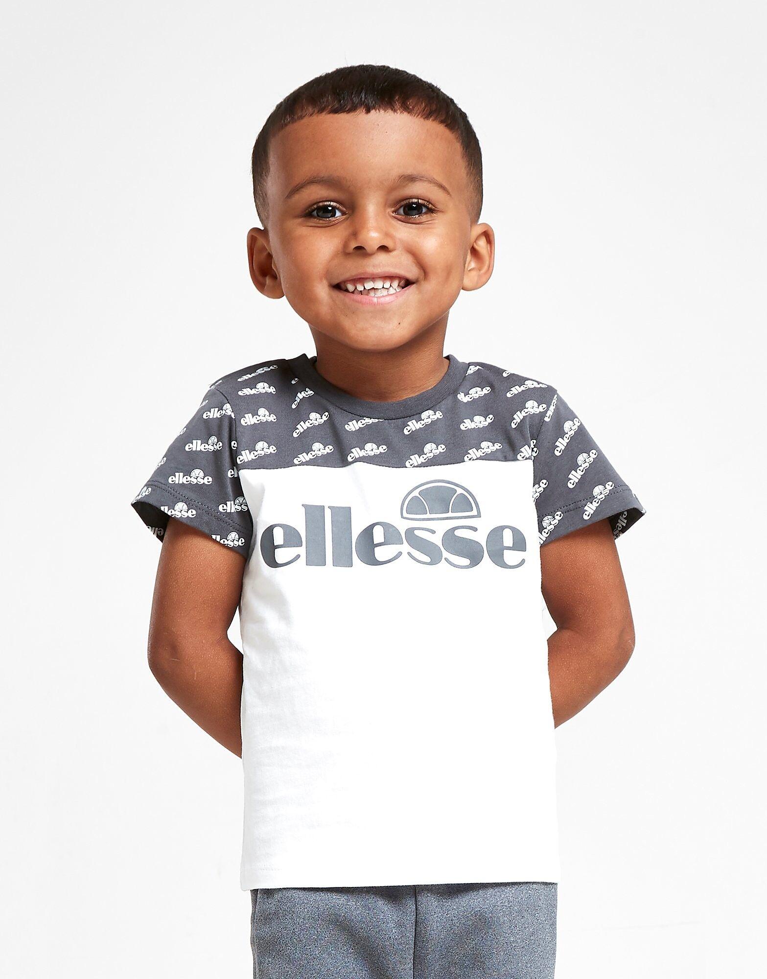 Ellesse All Over Print T-Paita Vauvat - Kids, Valkoinen
