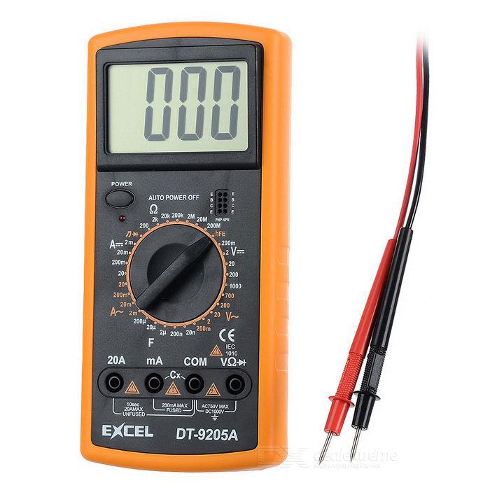 """""""Excel DT9205A 3"""""""" LCD Digital Multimeter - Black + Orange (1 x 6F22)"""""""