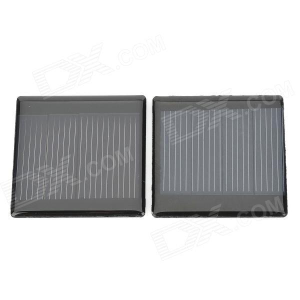 DIY 2V 150mA Solar Motor Battery Panel - Black (2 PCS)