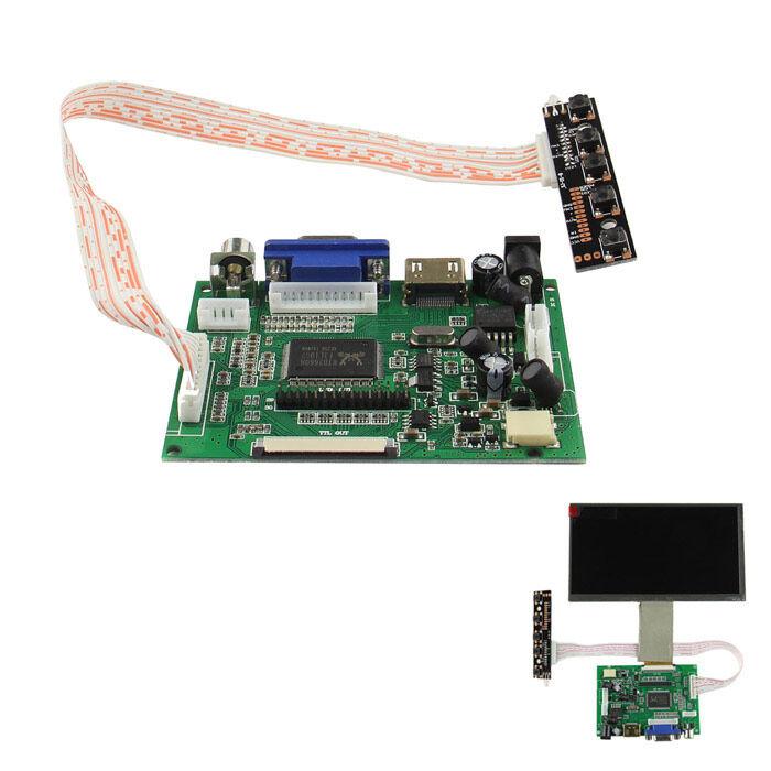 """""""Drive Board (HDMI + VGA + 2AV) and Switch Keyboard for Raspberry Pi 7"""""""" Digital LCD"""""""