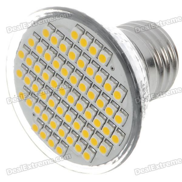 E27 3.5W 150-Lumen 7000K 60x3528 SMD LED White Light Lamp Bulb (110V)