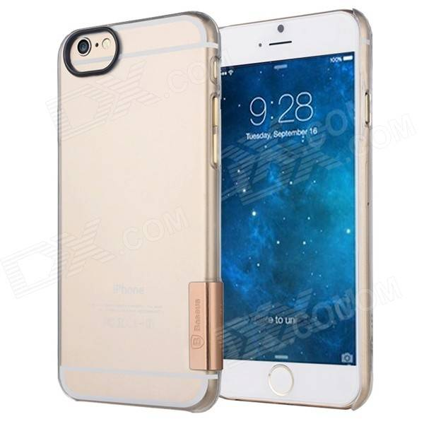"Apple ""Baseus Plastic Back Cover Case for IPHONE 6 4.7"""" - Transparent + Rose Gold"""