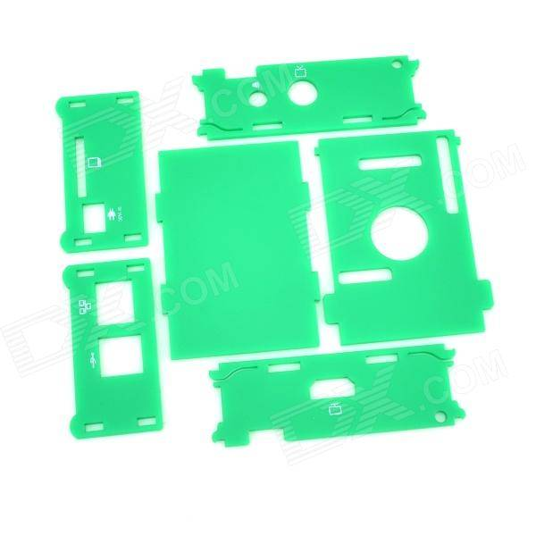Protective Acrylic Case Enclosure for Raspberry Pi - Green