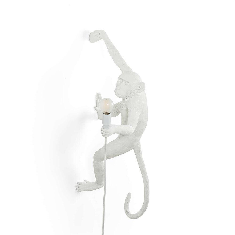 Seletti Monkey Hanging Ulko Seinävalaisin Right Valkoinen - Seletti