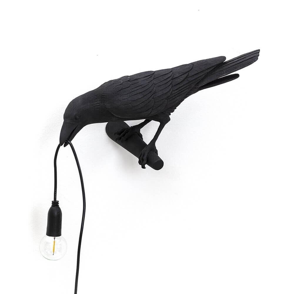 Seletti Bird Lamp Looking Left Ulko Seinävalaisin Musta - Seletti