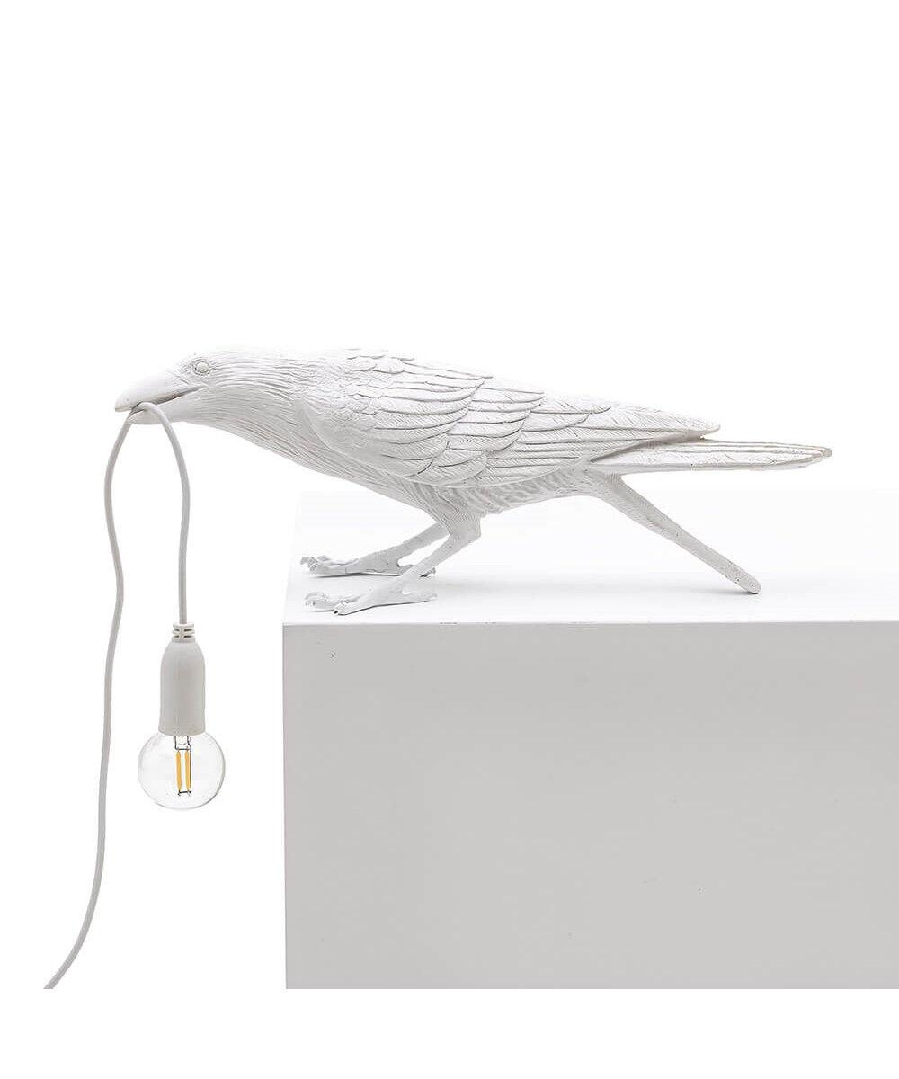 Seletti Bird Lamp Playing Pöytävalaisin Ulko Valkoinen - Seletti
