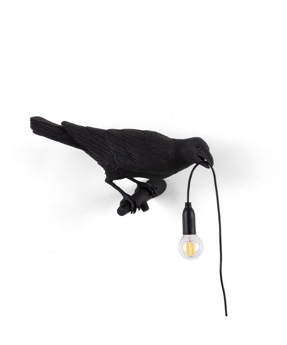 Seletti Bird Lamp Looking Right Ulko Seinävalaisin Musta - Seletti
