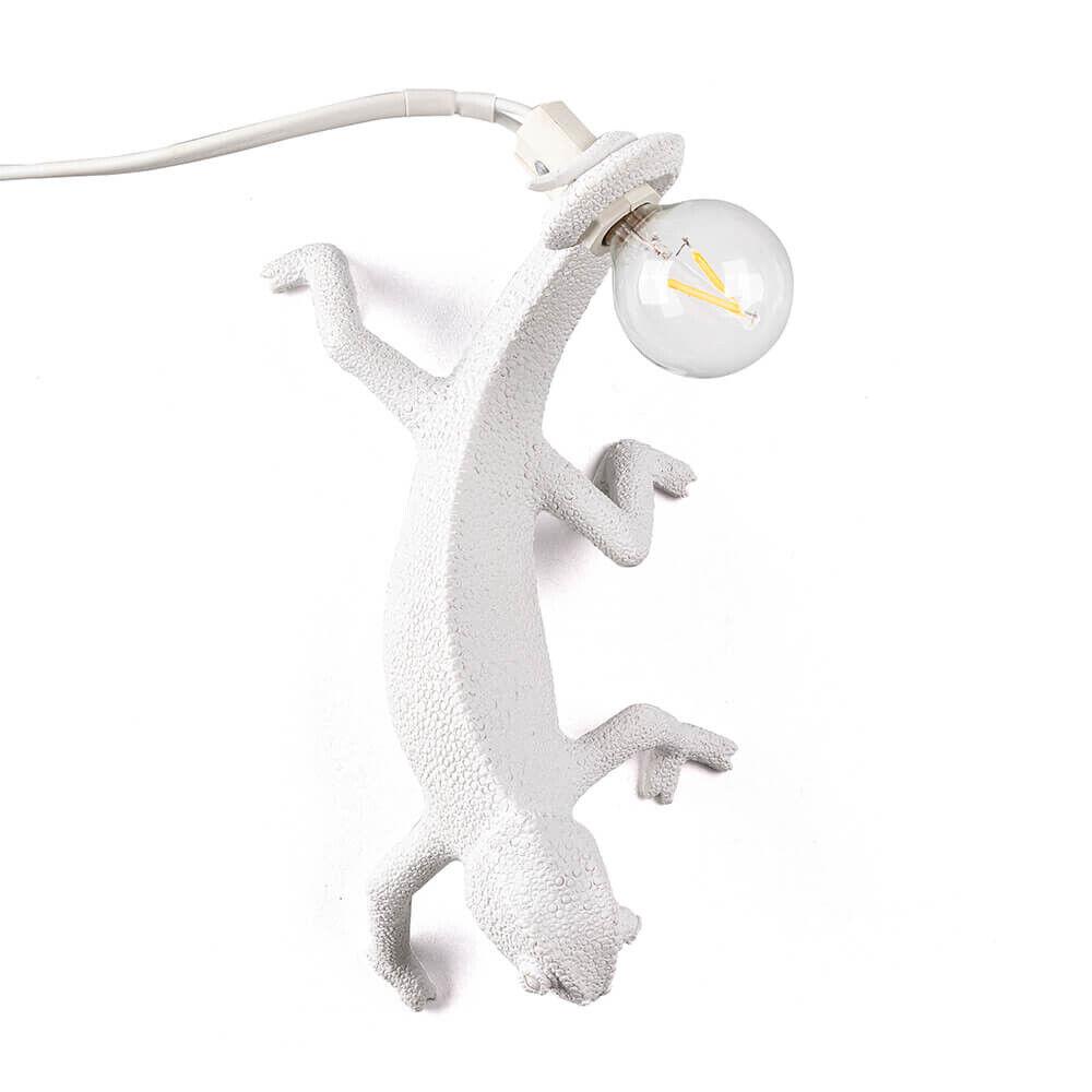 Seletti Chameleon Right-Going Down Seinävalaisin Valkoinen - Seletti