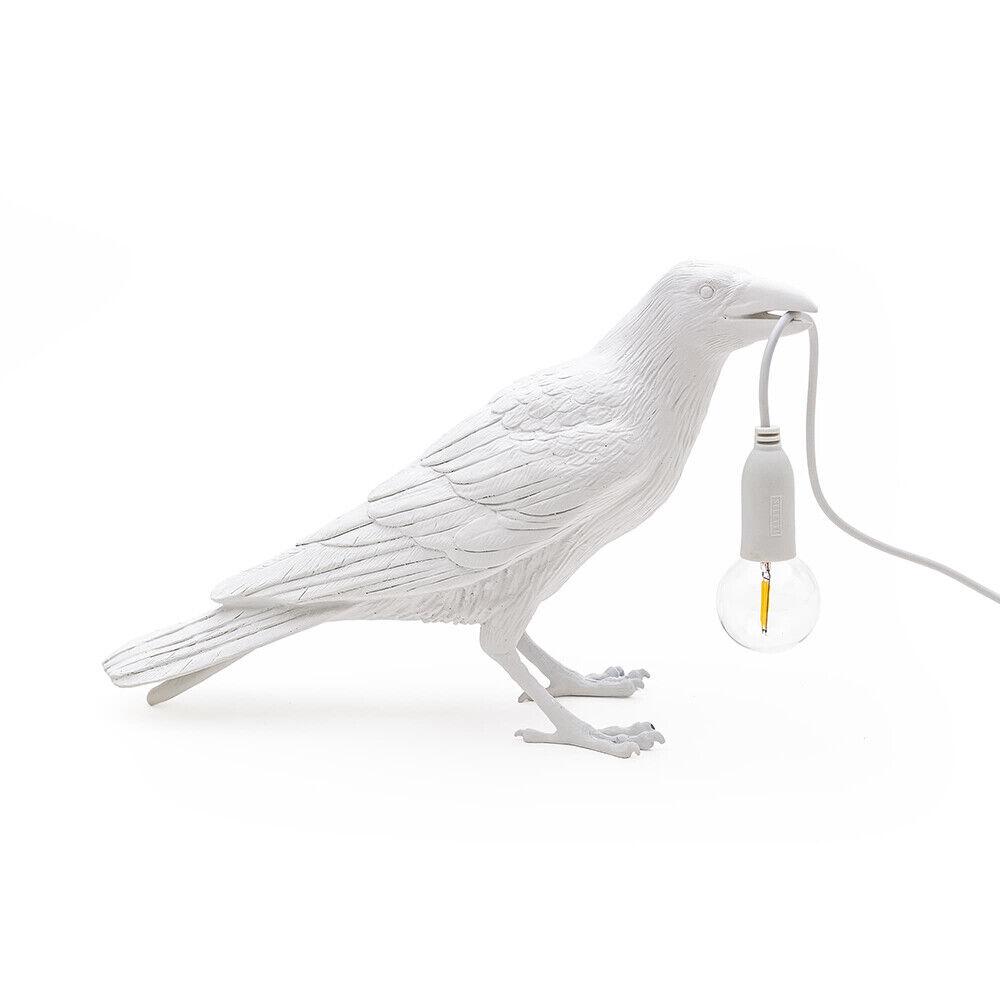 Seletti Bird Lamp Waiting Pöytävalaisin Valkoinen - Seletti