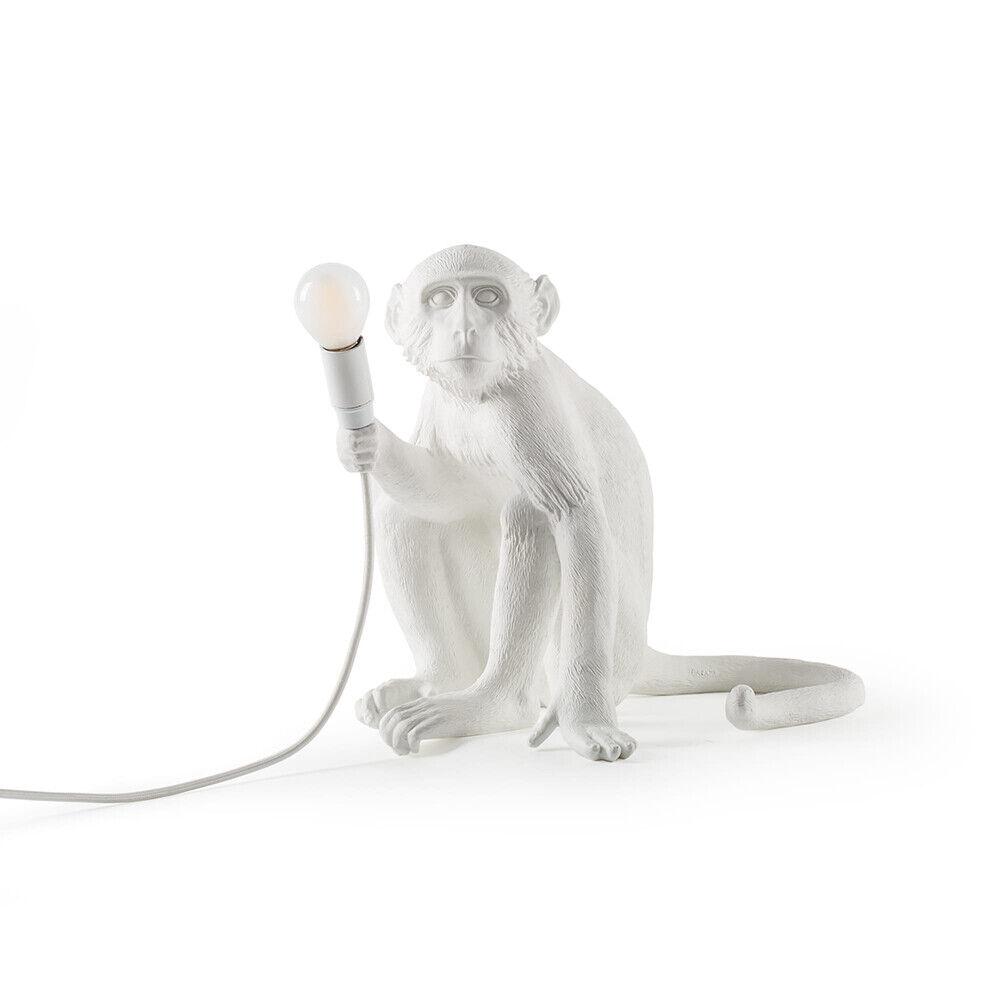 Seletti Monkey Sitting Ulko Pöytävalaisin Valkoinen - Seletti