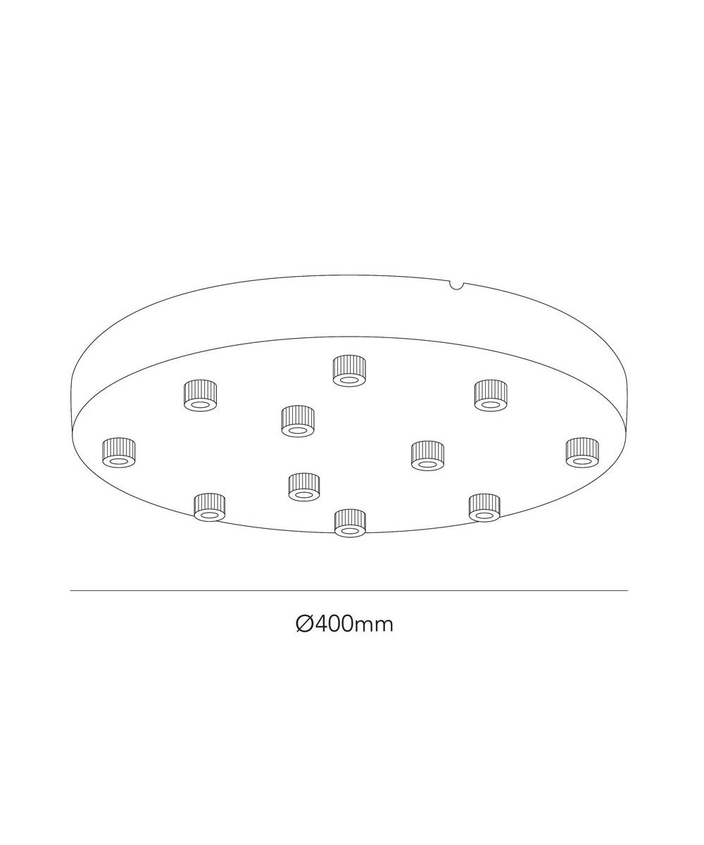 LIGHT-POINT Ceiling Base Ø400/11 Riippuvalaisin Musta - LIGHT-POINT