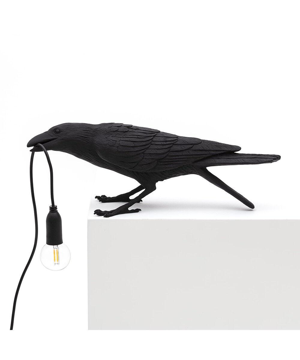 Seletti Bird Lamp Playing Pöytävalaisin Musta - Seletti