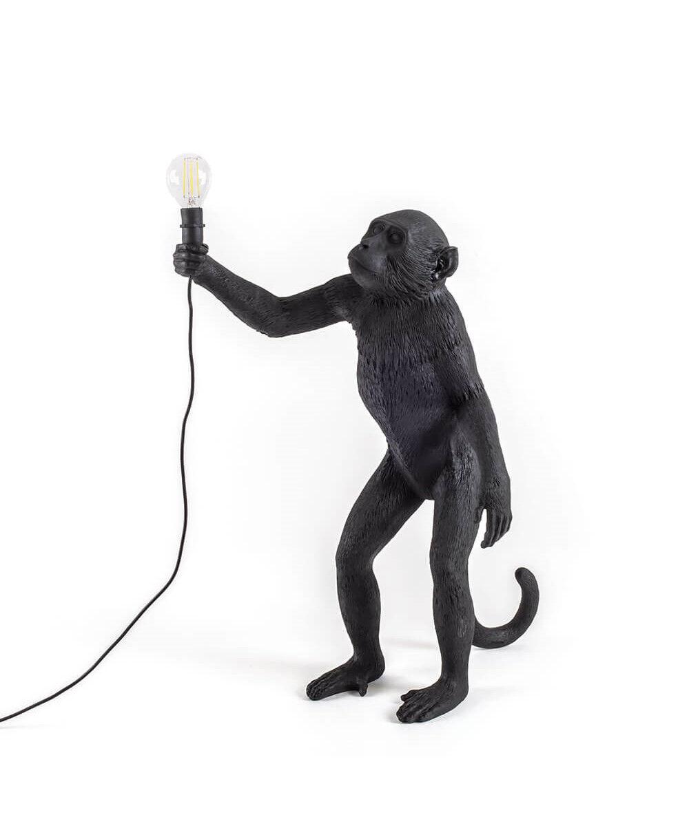 Seletti Monkey Standing Ulko Pöytävalaisin Musta - Seletti