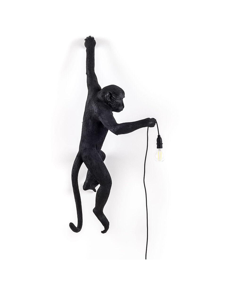 Seletti Monkey Hanging Ulko Seinävalaisin Left Musta - Seletti