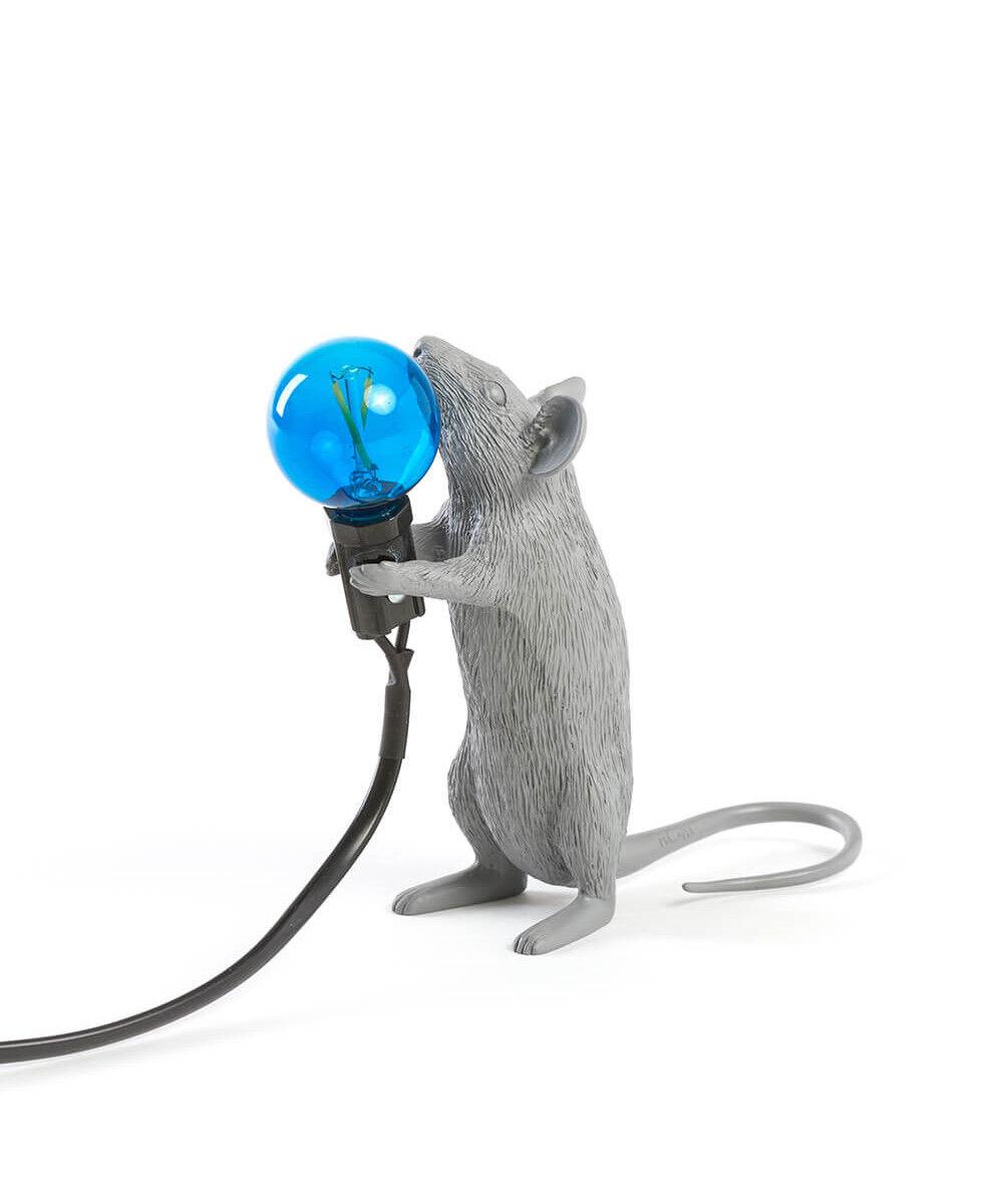 Seletti Mouse Lamp #1 Standing Harmaa Pöytävalaisin - Seletti