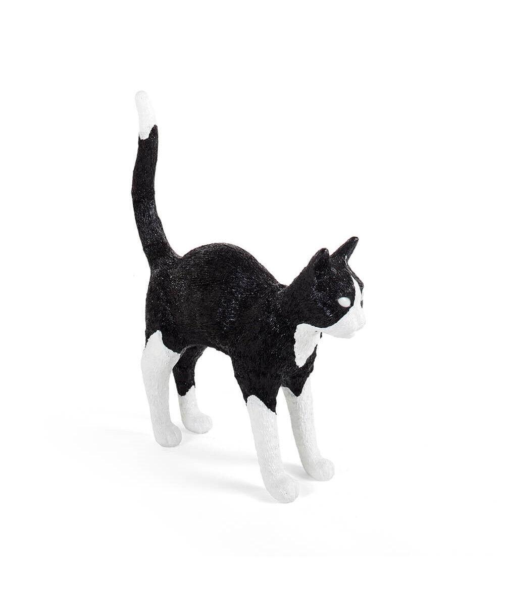 Jobby The Cat Pöytävalaisin Musta/Valkoinen -Seletti