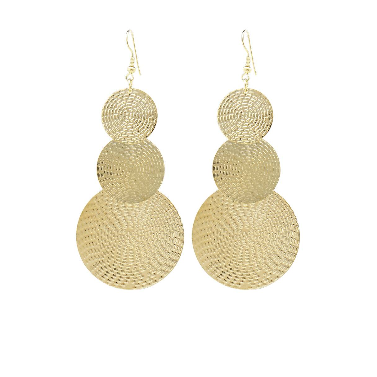 Yoins Gold Exaggerated Discs Metal Earrings  - women - Gold - Size: One Size