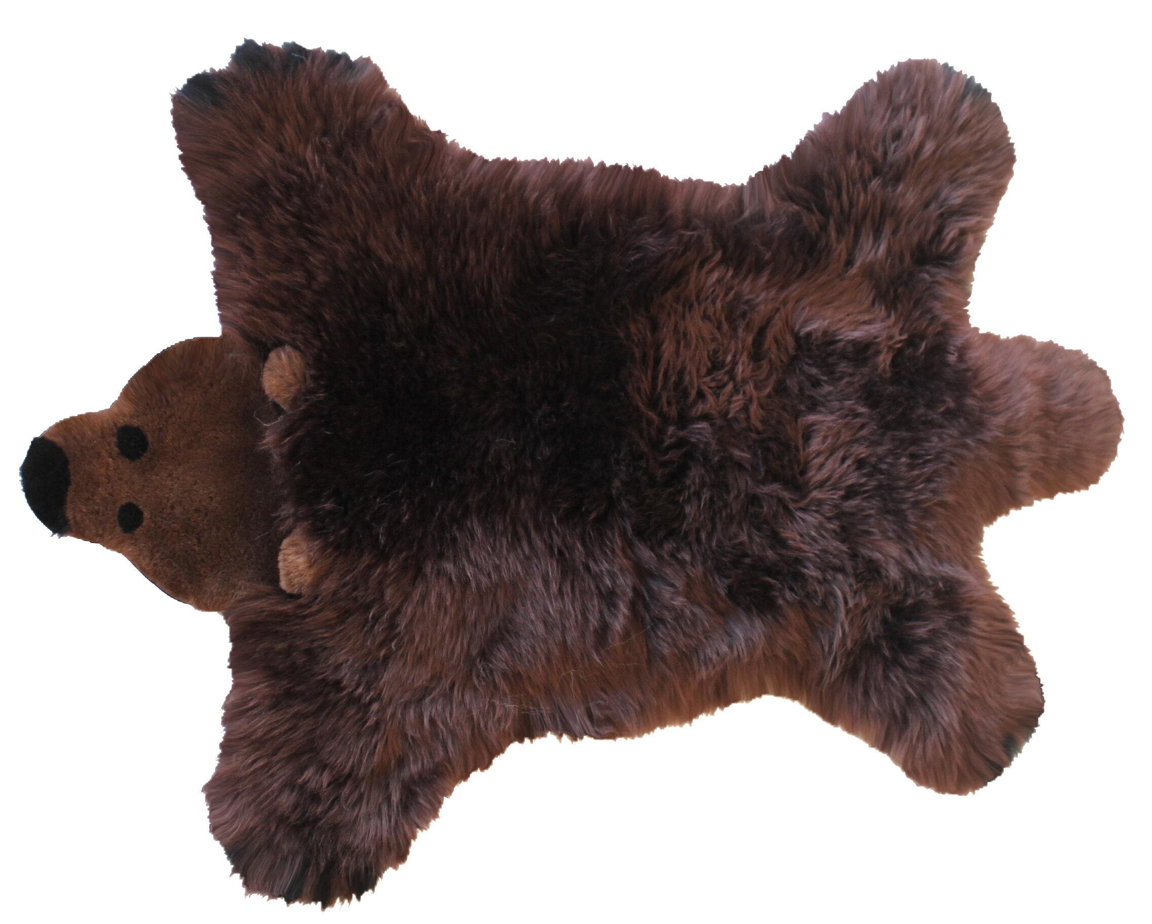 Baby Dan Bear Lambskin 60x97 cm Brown Bear