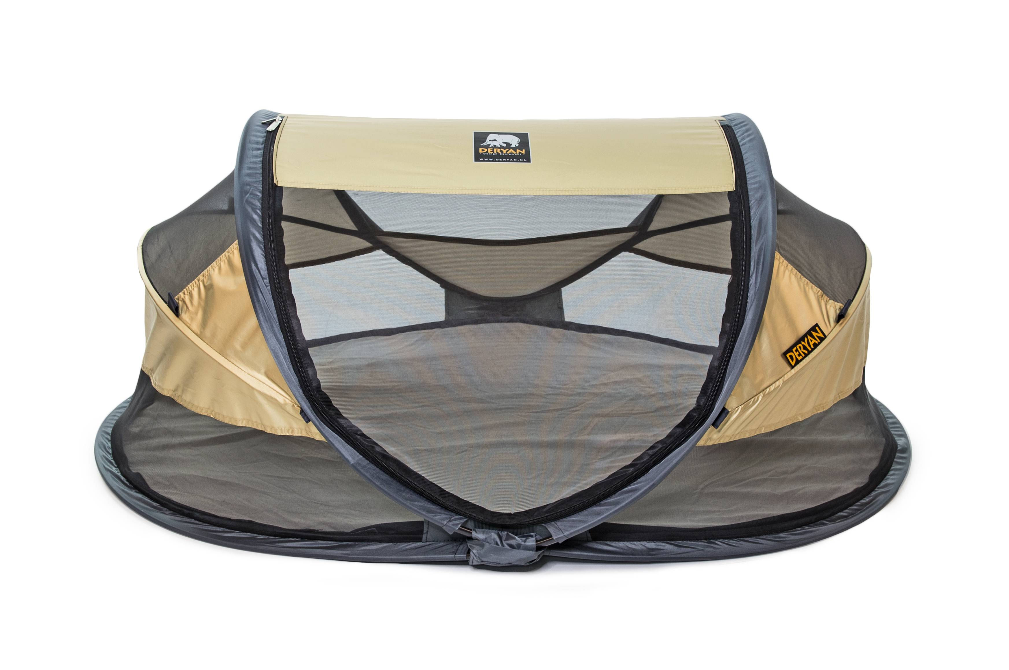 Deryan Travel Cot Baby Deluxe Gold