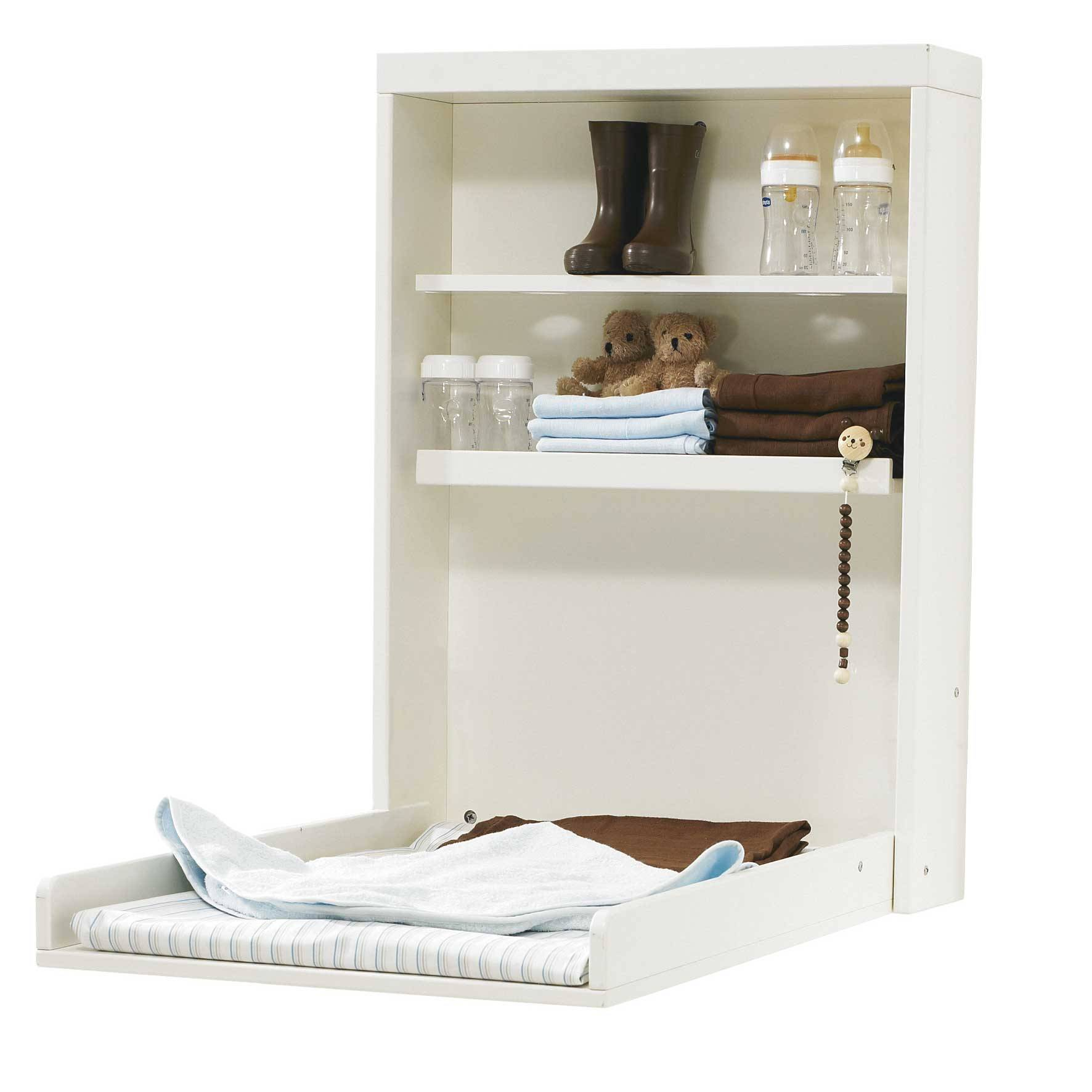Baby Dan Manhattan Changing Table Wall White (4121-01)