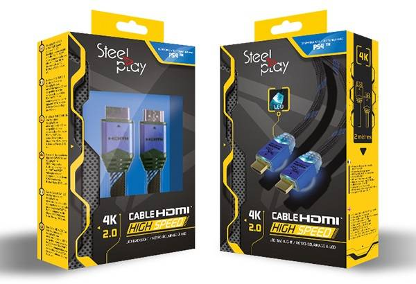 Steelplay 4K 2.0 HDMI High Speed Ultra HD LEC Cable 2M