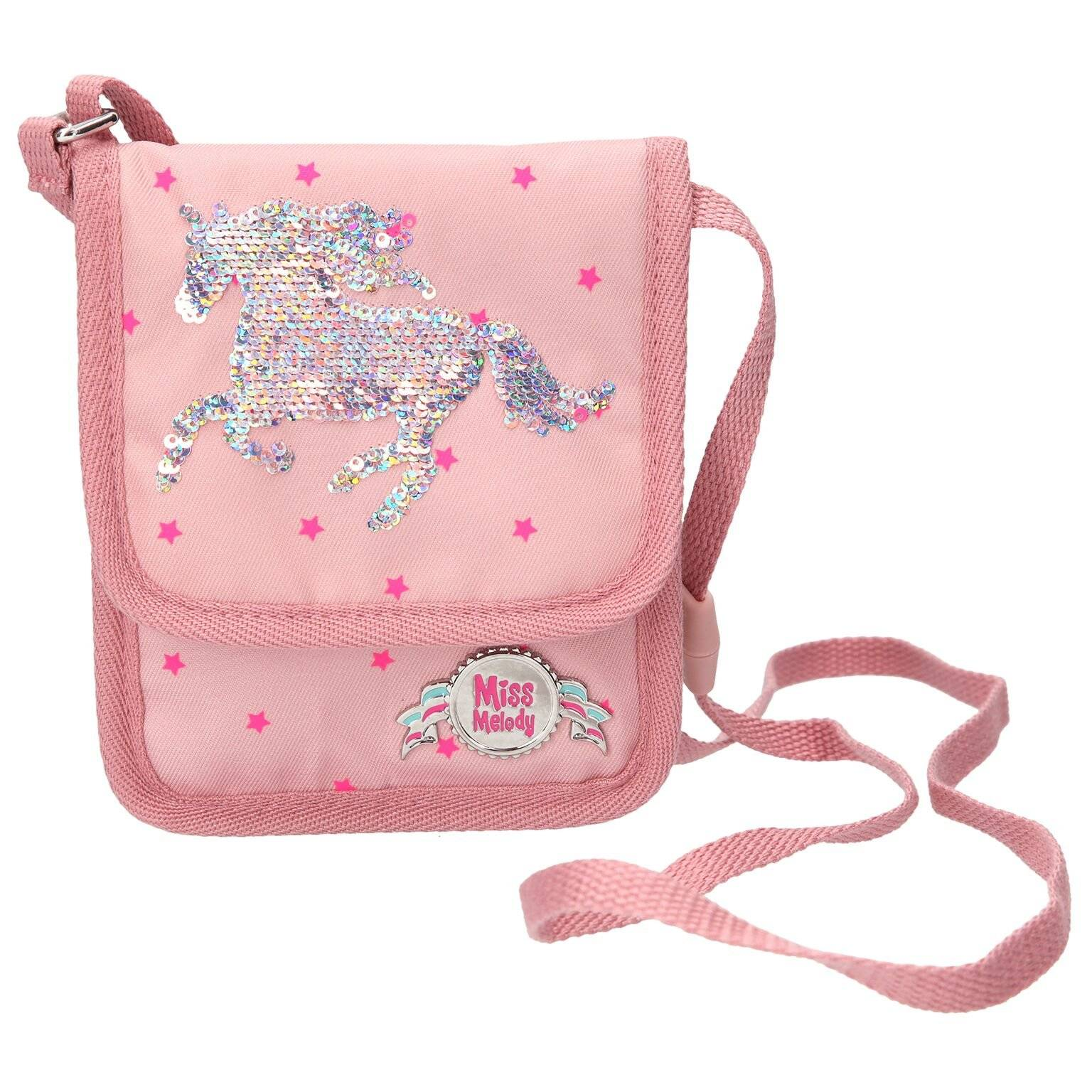 Miss Melody Small Bag with Sequins Pink (004984)