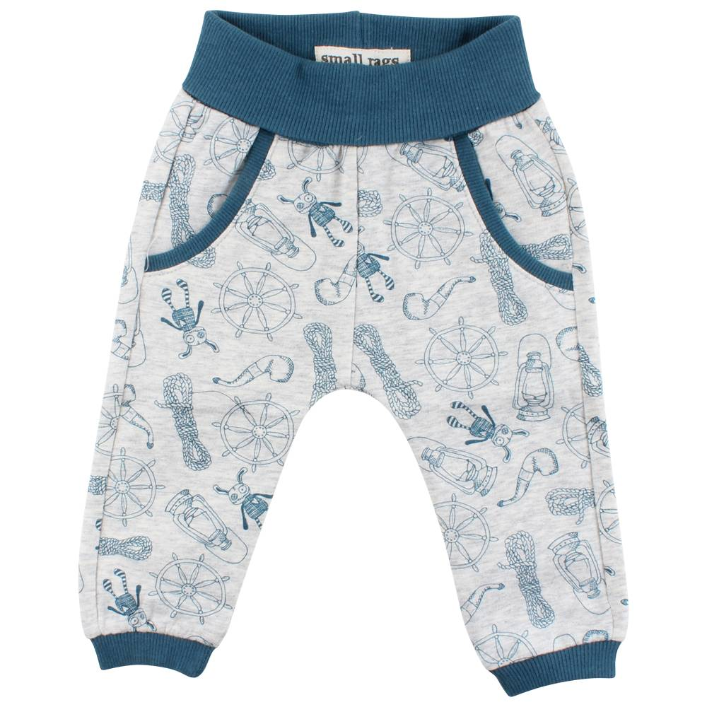Small Rags Pants with All Over Print