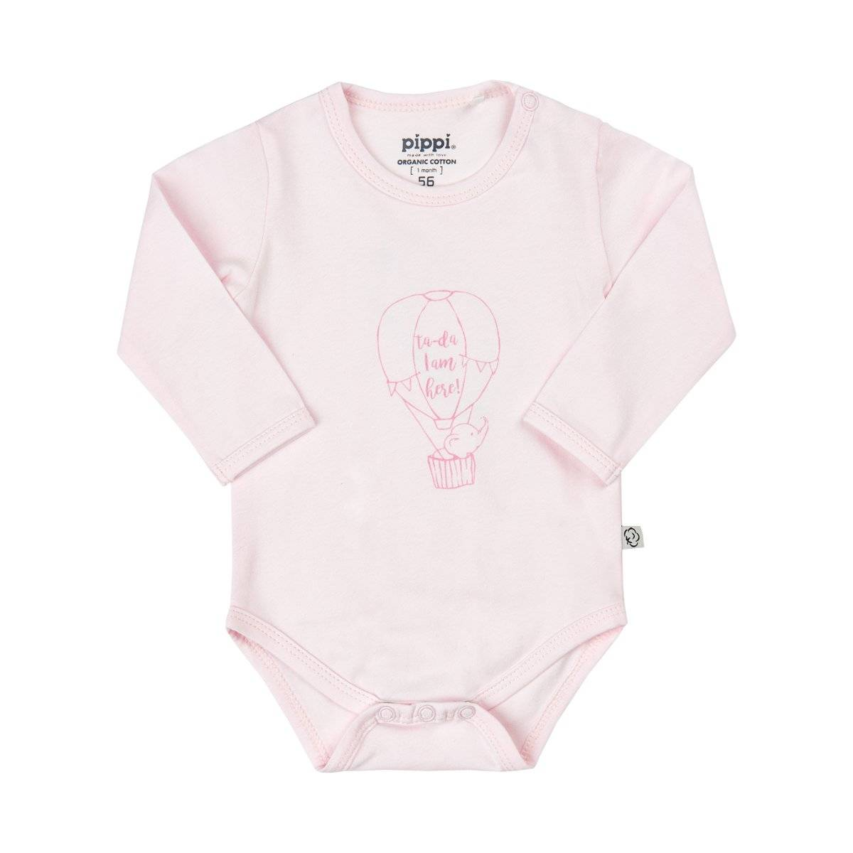 Pippi Organic Body Solid w. Front Print