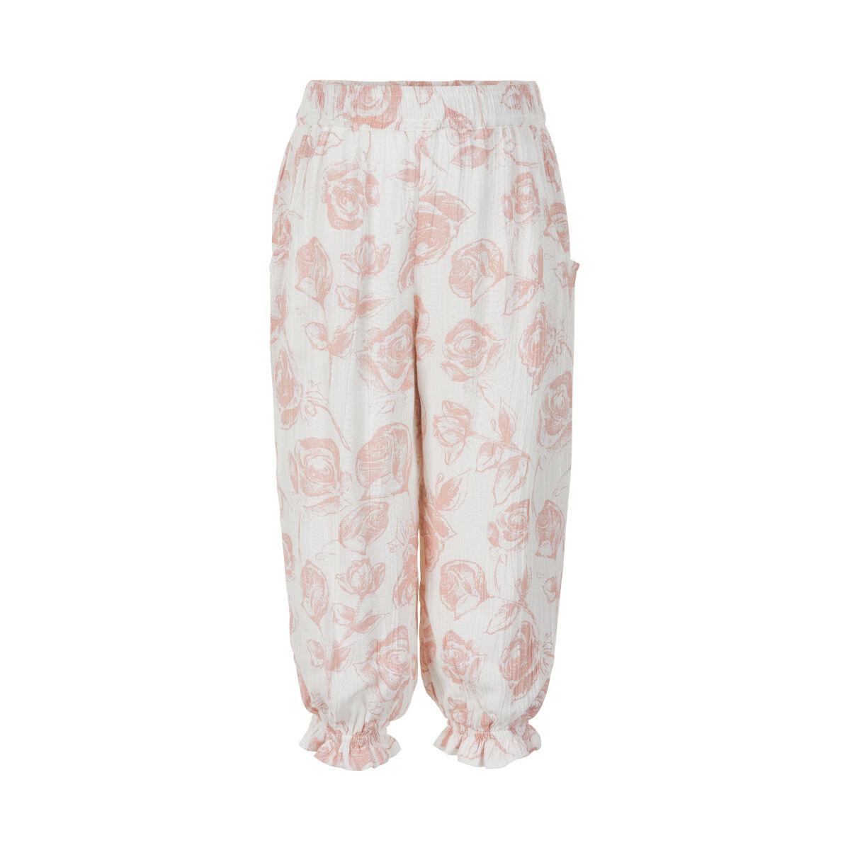 Creamie Pants w. Roses