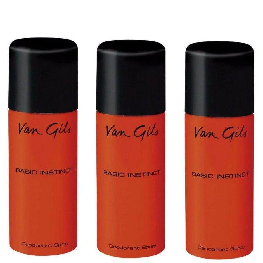 Van Gils 3x Basic Instinct Deodorant Spray 150 ml