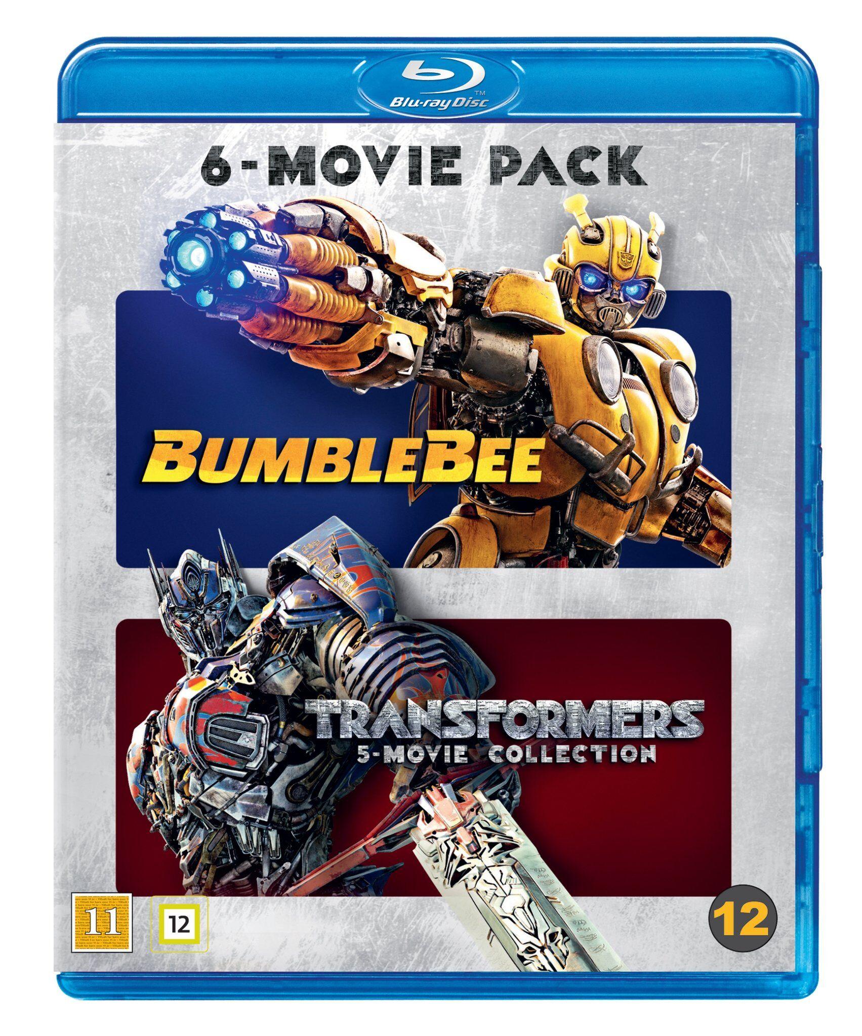 Transformers 1-6 (incl Bumblebee) Blu ray