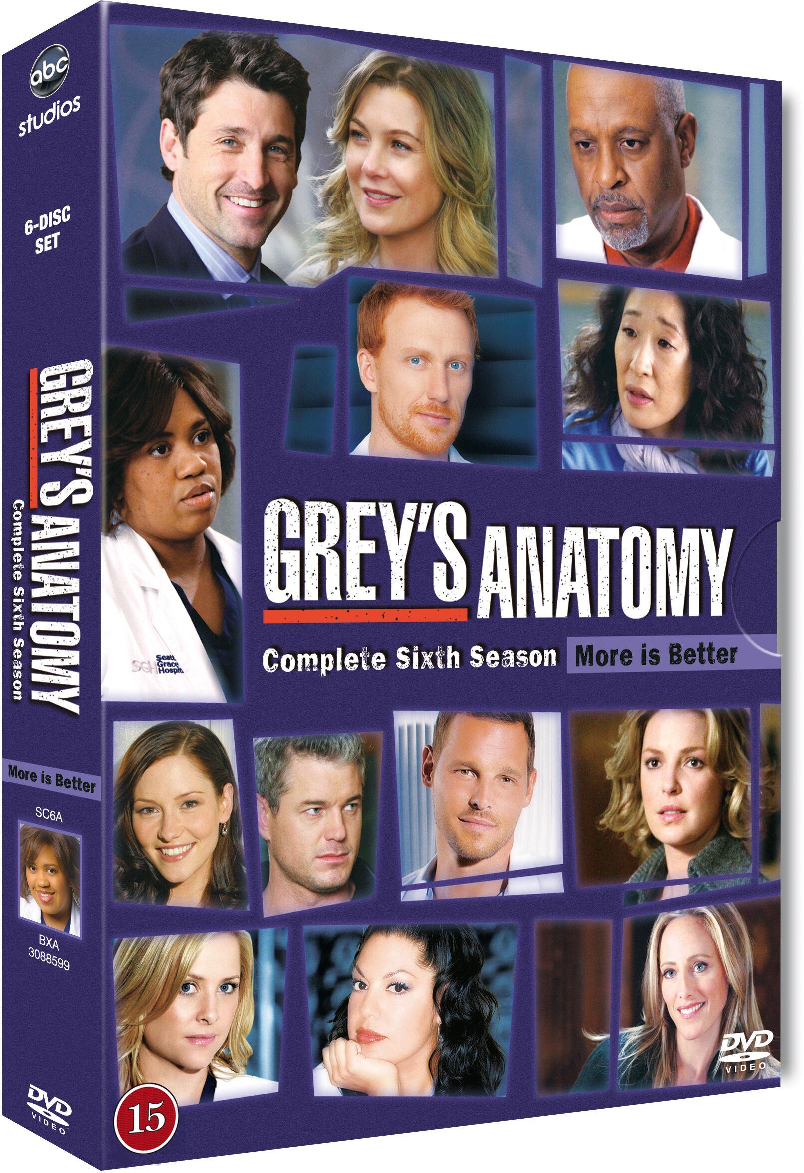 Greys Anatomy/Greys Hvide Verden saeson 6 DVD