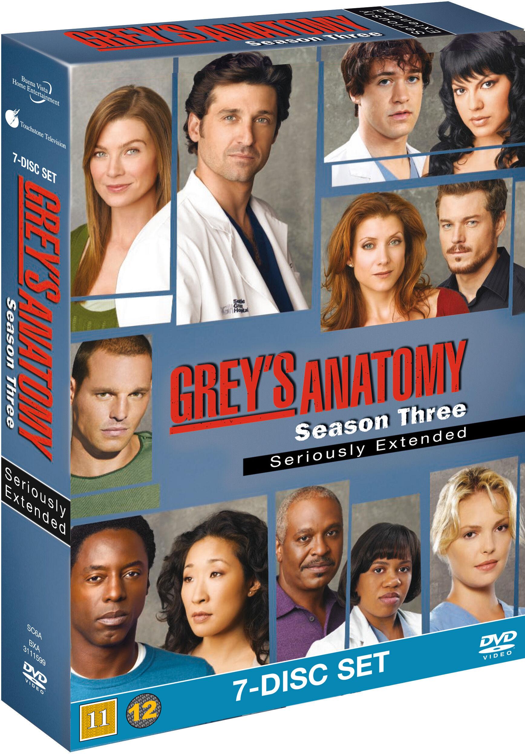 Greys Anatomy/Greys Hvide Verden saeson 3 DVD