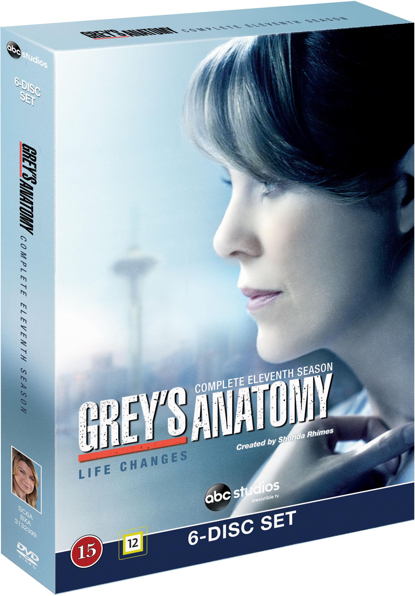 Greys Anatomy/Greys Hvide Verden saeson 11 DVD