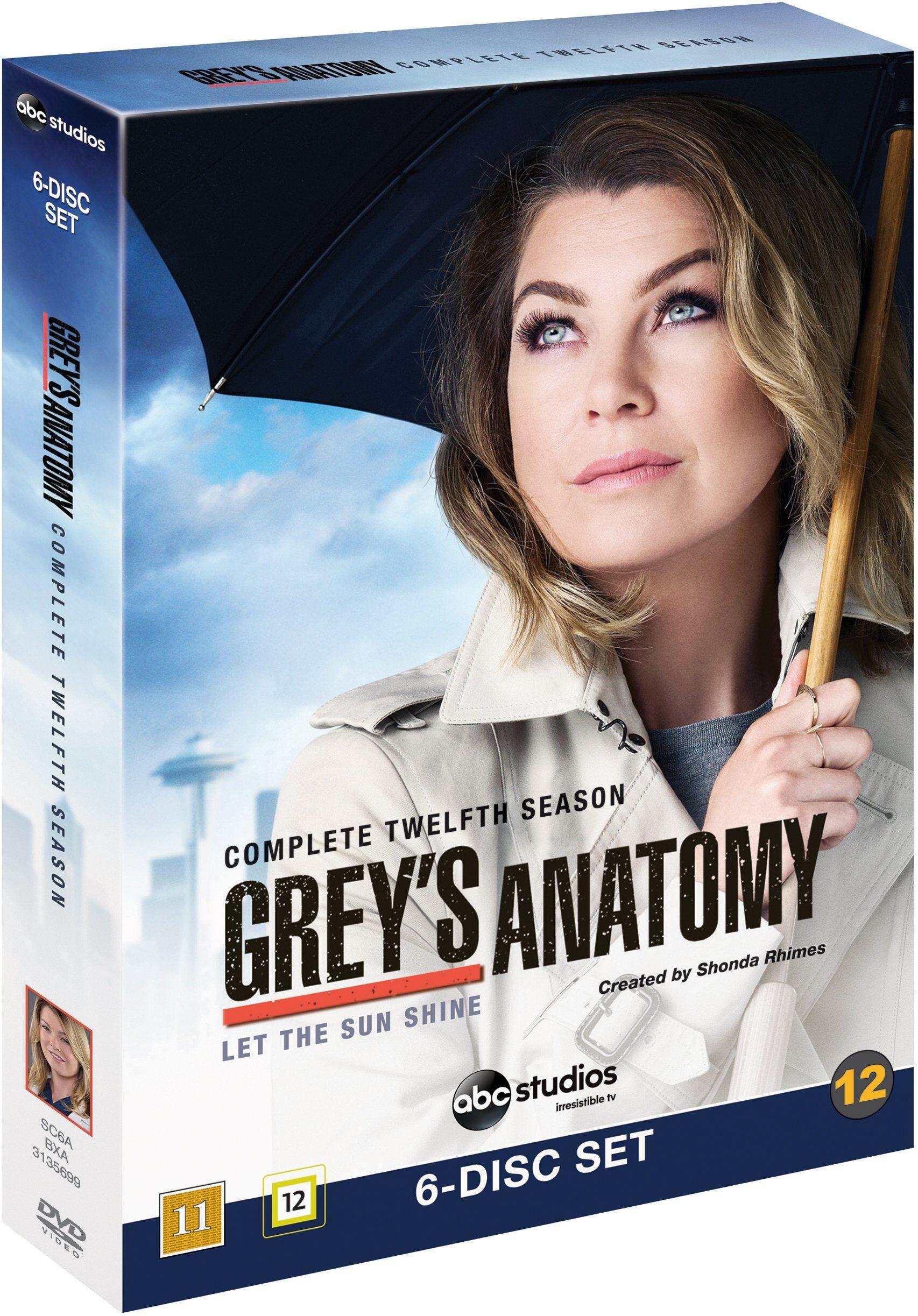 Greys anatomy/Greys hvide verden season 12 DVD