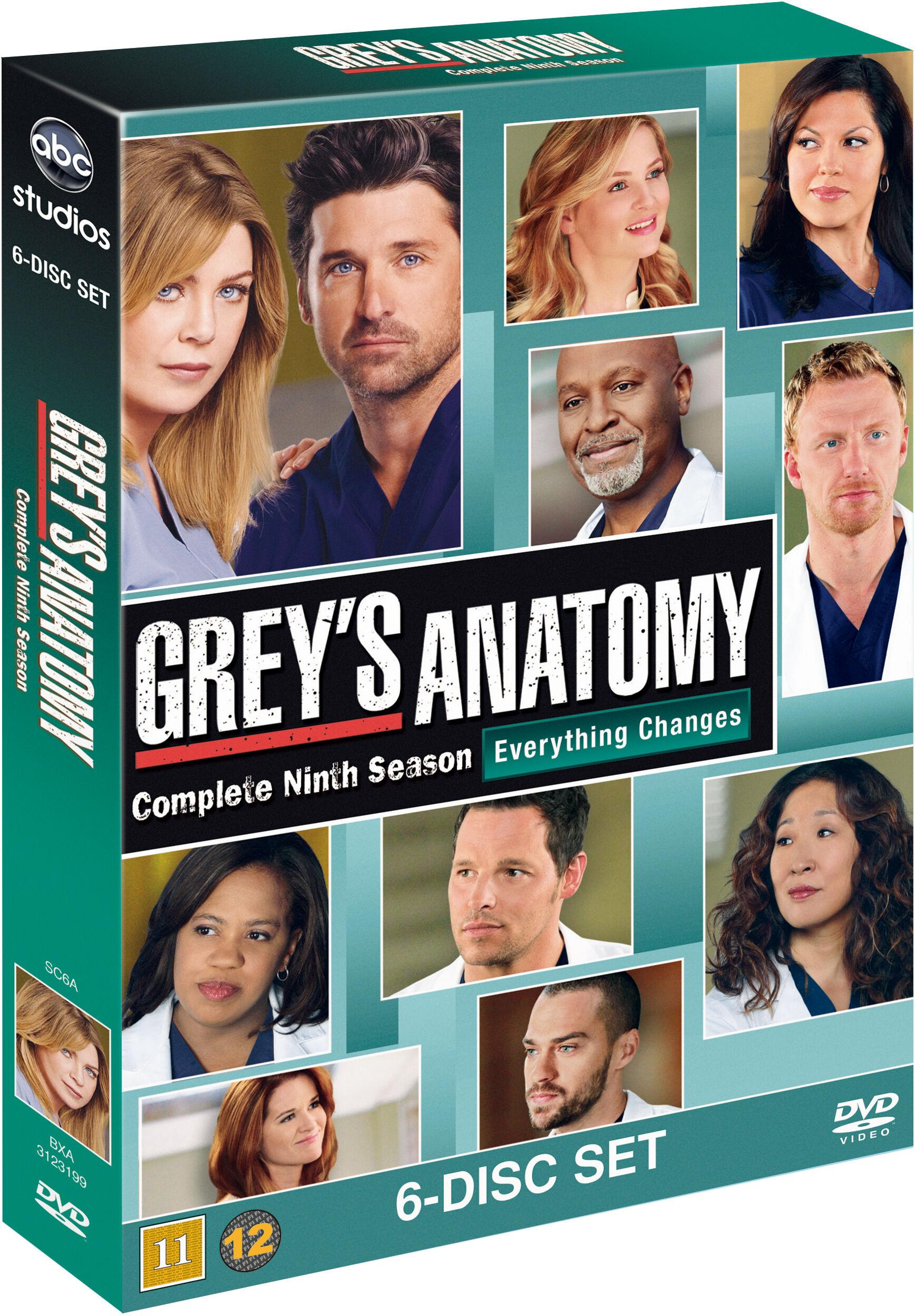 Greys Anatomy/Greys Hvide Verden saeson 9 DVD