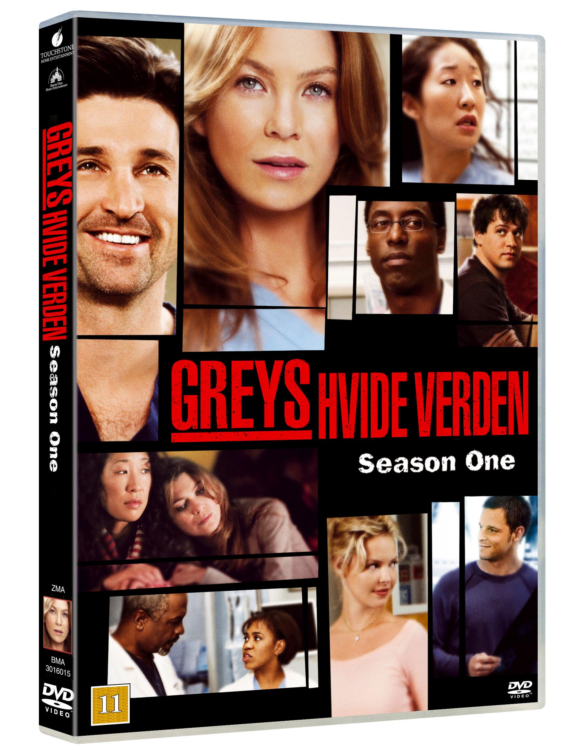 Greys Anatomy/Greys Hvide Verden saeson 1 DVD
