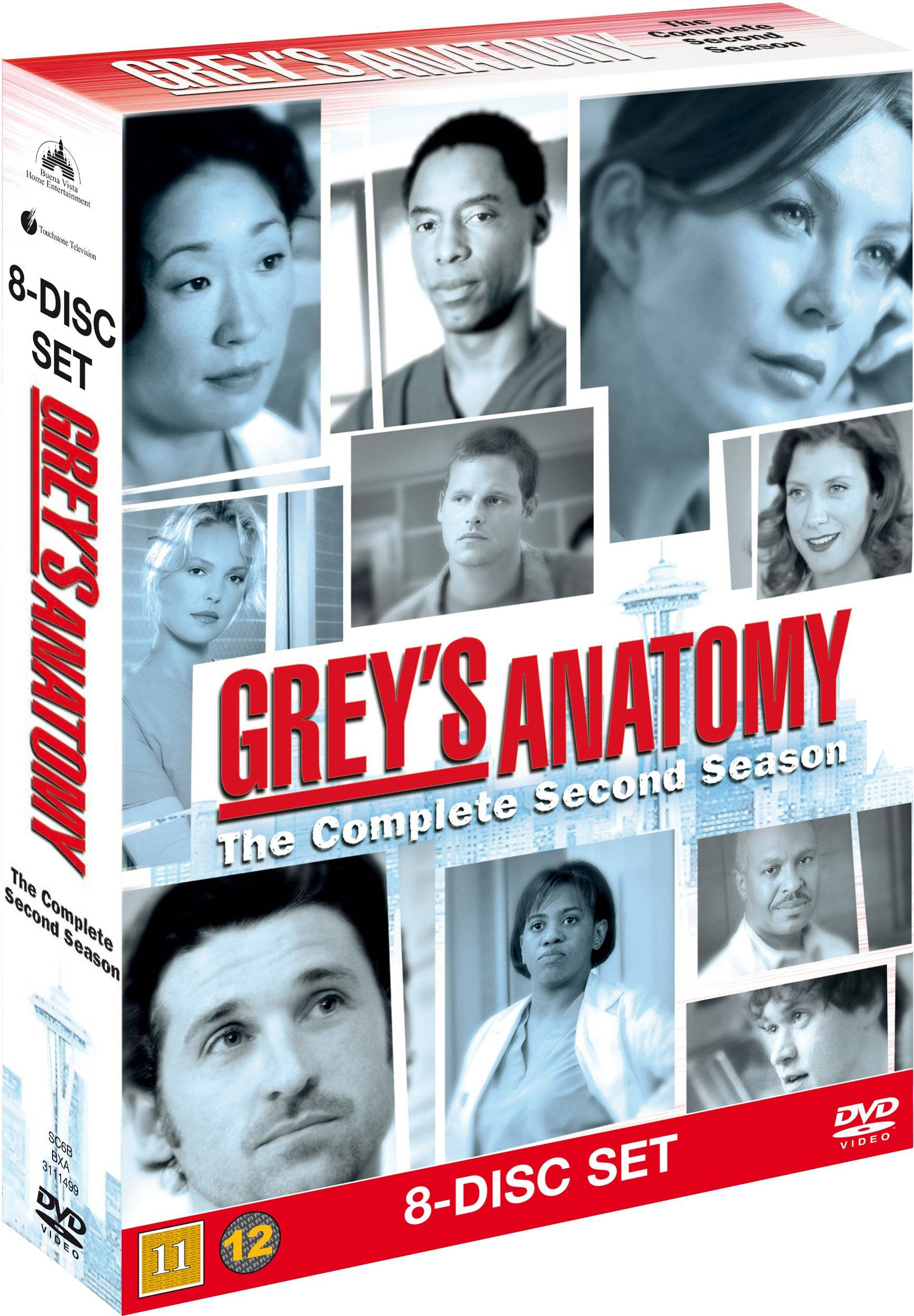 Greys Anatomy/Greys Hvide Verden saeson 2 DVD