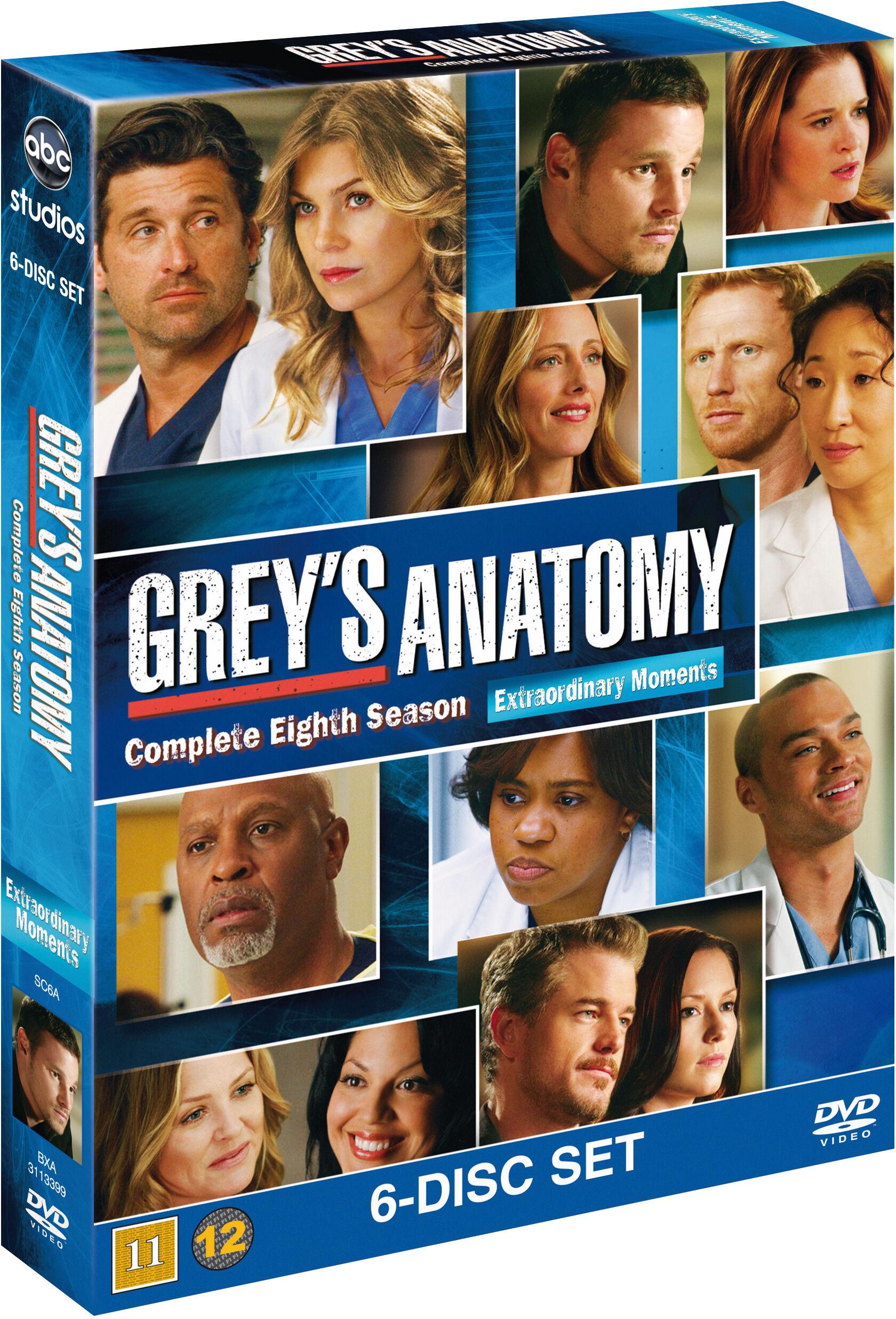 Greys Anatomy/Greys Hvide Verden saeson 8 DVD